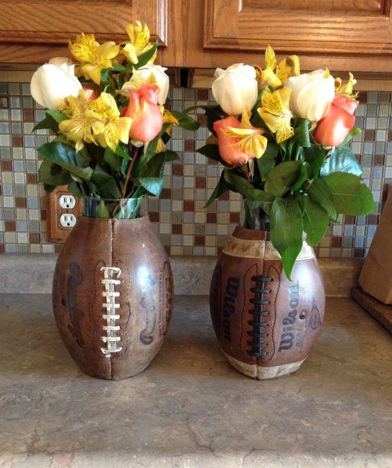 football flower vase