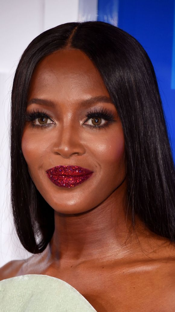 Image result for Naomi Campbell glitter lips
